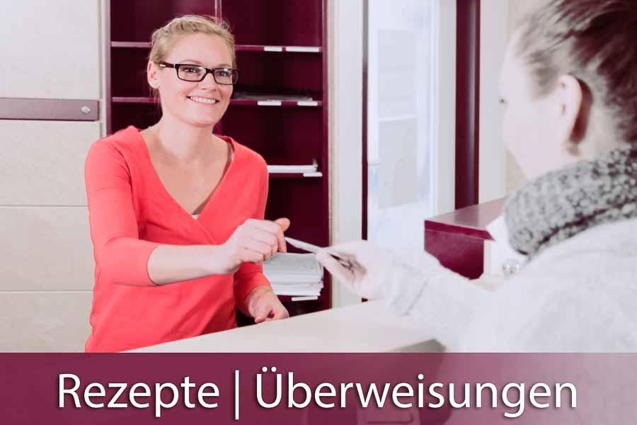 Rezepte und Überweisungen können in der Nephrologischen Praxis München-Unterhaching am Folgetag der Bestellung (Telefon oder Kontaktformular) abgeholt werden.